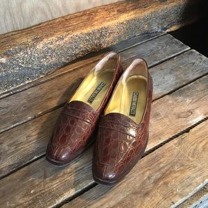 Alligator Penny Loafer